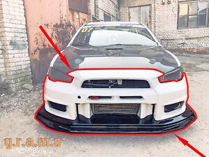 Varis Style Front Bumper + Lip for Mitsubishi Lancer Evo X v8