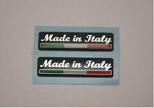 Made in Italy Italian Flag 3D Gel Decals Ducati Aprillia Ferrari Alfa Fiat Vespa