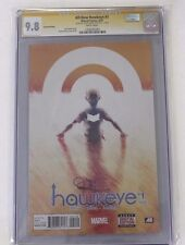 CGC All-New Hawkeye No.1, 2nd Print , JUN 2015 ,Graded 9.8 Signed Jeremy Renner