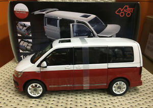 NZG Model 9541/10 Volkswagen VW T6 Multivan Generation Six Red/White 1:18 Scale