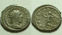 Rare ancient Roman silver coin Antoninianus Philip I 244AD Victory wreath branc