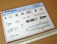 Waterline Model Ship Cut-out Card Kit #517 Lehrmittelinstitut Wilhelmshaven