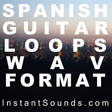Spanish AUTHENTIC Acoustic Guitar Classical Sound Sample Wav Fuego Rumba LOOP DL