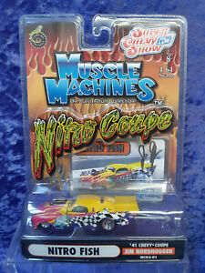 Funline Muscle Machines Nitro Coupe NC03-01 MOC 1941 Chevy Coupe Nitro Fish