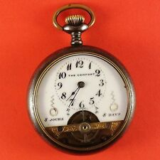 """Vintage """" The Comfort """" Swiss Pocket Watch 8 Days Wind 16 Size With Fancy Dial"""