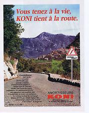 PUBLICITE ADVERTISING 064 1990 KONI Amortisseurs vous tenez à la Vie