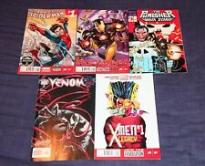 #1 LOT x5 AMAZING SPIDER MAN X-MEN LEGACY VENOM PUNISHER IRON MARVEL NOW 2014