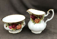 ROYAL ALBERT OLD COUNTRY ROSE Cream    AND SUGAR FOR A Coffee. Set