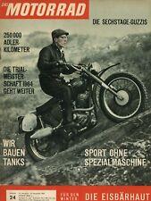 Motorrad 1963 24/63 Adler 250 Moto Guzzi Trial Uelzen Lüneburg Max Fritz Crius