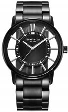 Kenneth Cole Men's KC3994 Black Transparency Stainless-Steel Quartz Watch