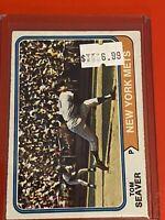 VINTAGE 1974 Topps Baseball Card Set #80 HOF NEW YORK METS - TOM SEAVER
