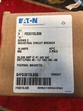 NEW!! EATON CUTLER HAMMER FD Breaker 3 Pole 15 Amp FD3015LS06 With Shunt Trip