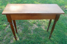 Single Board Top Period Solid Walnut Entry Table (Bm)
