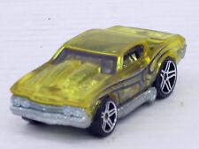 Chevrolet Chevelle, 1969,  in durchsichtigem Gelb, o.OVP, Hot Wheels, 1:64