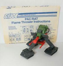 New listing Vintage Gi Joe Pac/Rat Flamethrower With Blueprints/Instructions Hasbro