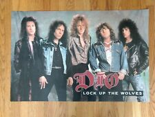 Dio Lock Up The Wolves Rare poster Black Sabbath 35 by 23 Nice B3