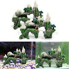 New Mountain View Aquarium Tree House Cave Bridge Fish Tank Ornament Decoration