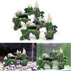 New Mountain View Aquarium Tree House Cave Bridge Fish Tank Ornament Decoration
