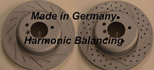 BMW 135i 135is Drilled Slotted Rotors Harmnic Balancing Made In Germany Rear