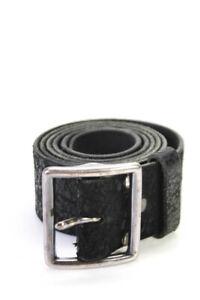 Double RL Mens Medium Width Leather Belt Black One Size