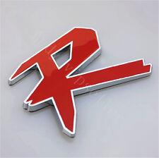 1Pcs Car Luxury Red R Alloy Metal Auto Trunk Lid Sticker Badge Emblem Decoration