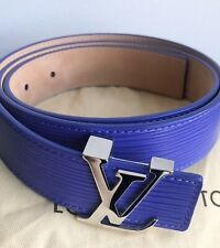 Louis Vuitton Figue Purple Epi Leather LV Initials Belt - 85/34