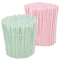 Pack Of 500 Coloured Plastic Drinking Straws Birthday Celebration Disposable NEW