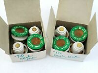 Lot of 8 Edison 3770-25 Type S Fuses 25 Amp 125V Screw In Time Delay Fuse