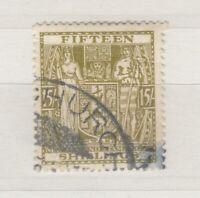 New Zealand 1938 15/- Fiscal SGF187 VFU J8297