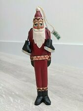"Midwest of Cannon Falls 10"" Santa Claus Ice Skate Randy Tate Christmas Ornament"