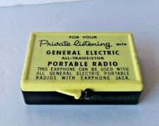 VINTAGE GENERAL ELECTRIC FOR YOUR PRIVATE LISTENING PORTABLE RADIO EARPHONE