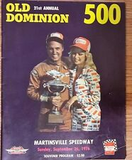 1976 Old Dominion 500 Nascar Race Souvenir Program Cale Yarborough Win