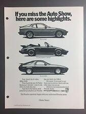 Print Poster RARE! Pictures 1987 // 1988 Porsche 911 Cabriolet B/&W Clip Art