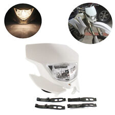 White Street Dirt Bike Motorcycle Headlight Ghost face Fairing Headlamp Assembly