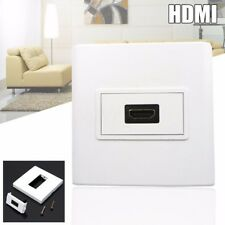 HDMI Female Media Wall Plate Mount Faceplate Socket For Cables White with Screws