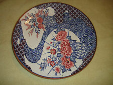 Superb Chinese Or Japanese Imari Style Cabinet Plate-Unmarked-Large-Flowers-LQQK