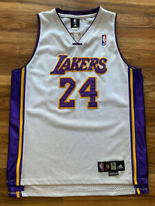 Authentic Kobe Bryant Adidas Los Angeles Lakers Jersey 24 White  50 Large +2