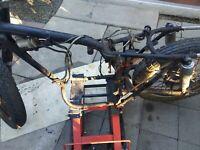 1964 honda CL72 250 SCRAMBLER roller Frame.with pink slip .elect.bars,all oem