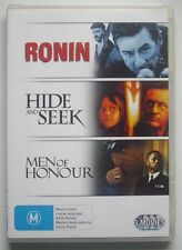 Robert De Niro 3-Pack - RONIN / HIDE & SEEK / MEN OF HONOUR - VGC