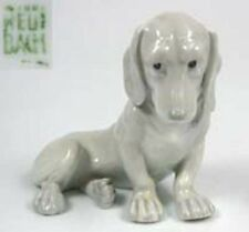 Dackel Porzellanfigur hund hundefigur  Teckel porzellanhund Heubach um 1900
