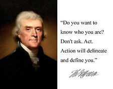 """Thomas Jefferson """"do you want to know"""" Autograph Quote 8 x 10 Photo Picture #dk2"""