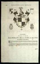 RAMBAULD et TIBERIO CARRAFA Heraldisme1667 blasons
