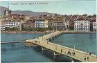 Suisse - cpa - GENEVE - Pont des Bergues et le grand Quai
