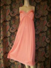 Vintage Vanity Fair Coral Silky Nylon Plus Size Empire Slip Nighty Lingerie 44