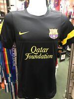 Nike Fc Barcelona Black Yellow Training soccer jersey 2012-13 Size XS Men's Only