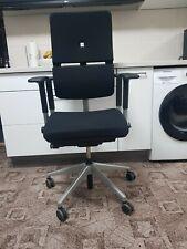 Steelcase Please 1  Bürodrehstuhl schwarz blau ernomischer Drehsessel