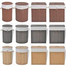 vidaXL Cesto de la Ropa de Bambú Cesta Colada Diferentes Modelos y Colores