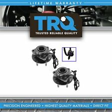 TRQ Front Wheel Hub & Bearing Pair Set for Trailblazer Envoy w/ ABS 6 Lug