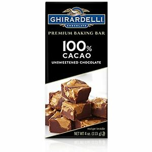 Ghirardelli Premium Baking Bar, 100% Cacao Unsweetened Chocolate