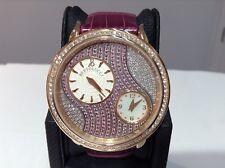 BERTOLUCCI Ref. 1213 VOLTA 18K R/Gold 42mm Diamond Bezel/Dial w/ Pink Sapphires!